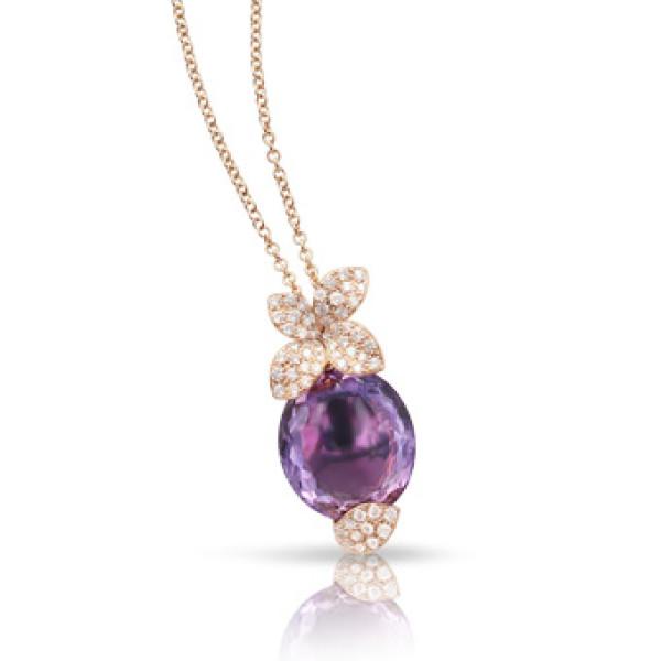 Подвеска Pasquale Bruni Petit Secret, розовое золото, бриллианты, аметист