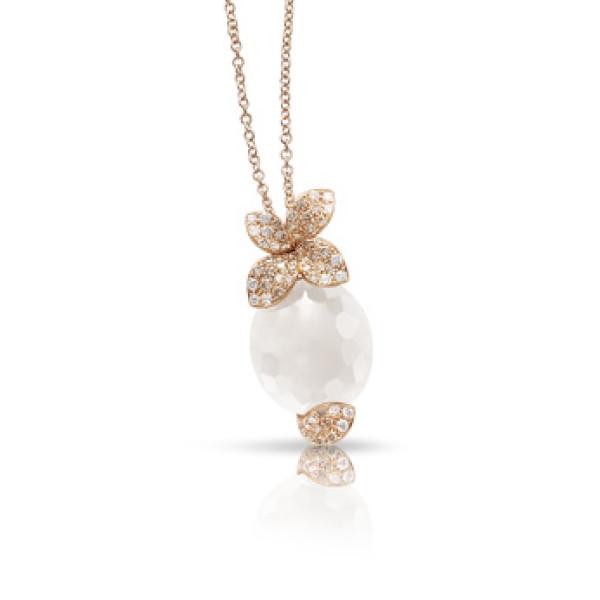 Подвеска Pasquale Bruni Petit Secret, розовое золото, бриллианты, кварц