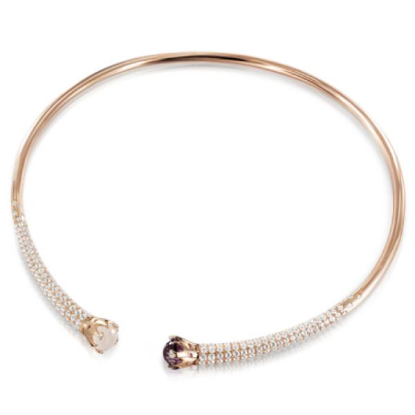 Колье Pasquale Bruni Sissi, розовое золото, бриллианты, аметист, кварц, топазы