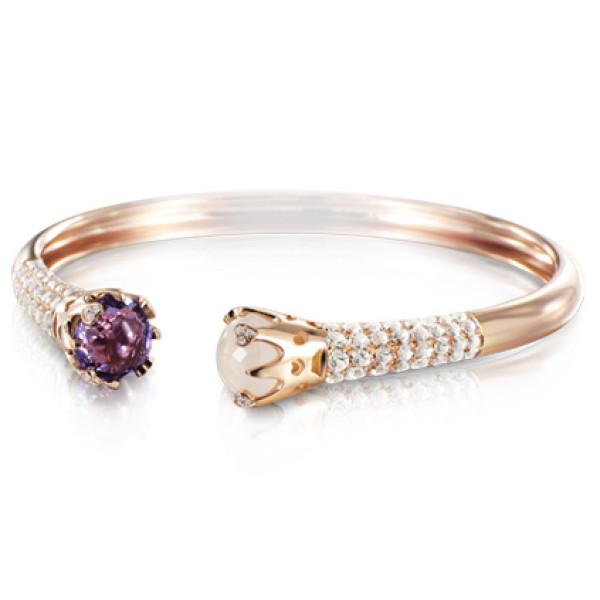 Браслет Pasquale Bruni Sissi, розовое золото, бриллианты, аметист, кварц, топазы