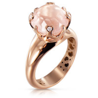 Кольцо Pasquale Bruni Sissi, розовое золото, бриллианты, кварц