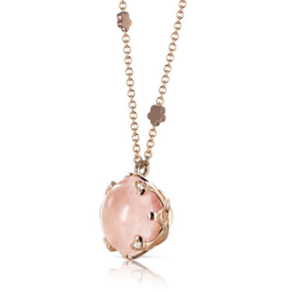 Подвеска Pasquale Bruni Sissi, розовое золото, бриллианты, кварц