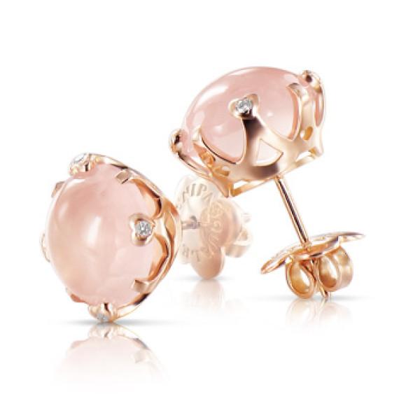 Серьги Pasquale Bruni Sissi, розовое золото, бриллианты, кварц