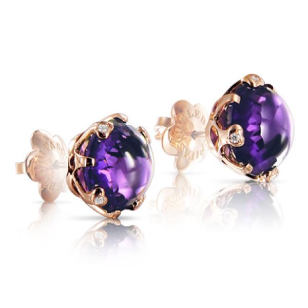 Серьги Pasquale Bruni Sissi, розовое золото, бриллианты, аметист
