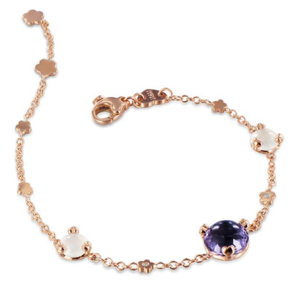 Браслет Pasquale Bruni Sissi, розовое золото, бриллианты, аметист, кварц