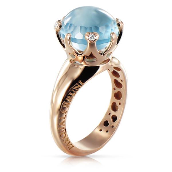 Кольцо Pasquale Bruni Sissi, розовое золото, бриллианты, топаз