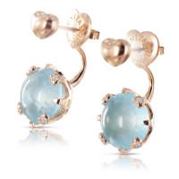 Серьги Pasquale Bruni Sissi, розовое золото, бриллианты, топазы