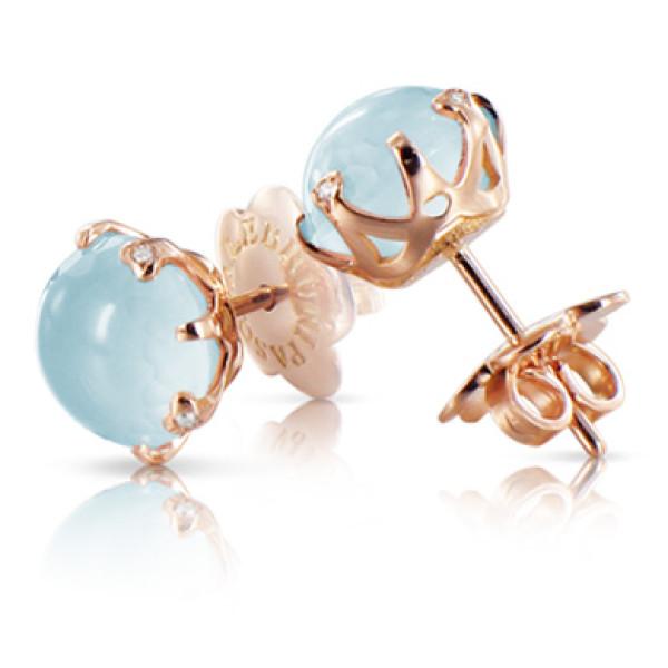 Серьги Pasquale Bruni Sissi, розовое золото, бриллианты, топаз