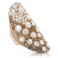 Кольцо Pasquale Bruni Mandala, розовое золото, бриллианты, жемчуг