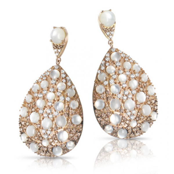 Серьги Pasquale Bruni Mandala, розовое золото, бриллианты, жемчуг