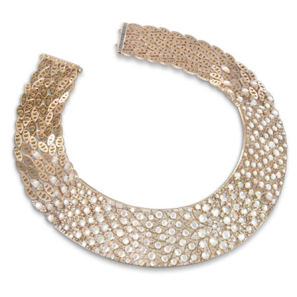 Колье Pasquale Bruni Mandala, розовое золото, бриллианты, жемчуг