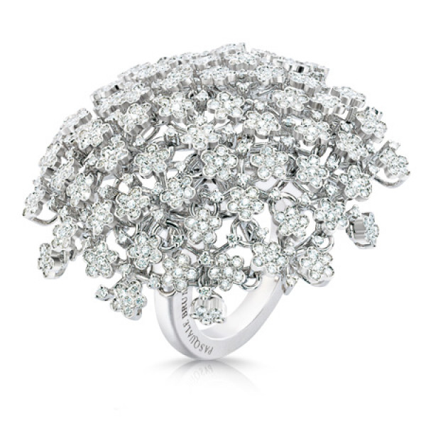 Кольцо Pasquale Bruni Flowery Meadow, белое золото, бриллианты