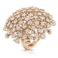 Кольцо Pasquale Bruni Flowery Meadow, розовое золото, бриллианты