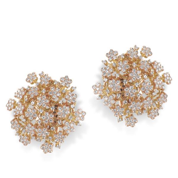 Серьги Pasquale Bruni Flowery Meadow, розовое золото, бриллианты