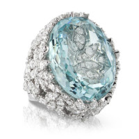 Кольцо Pasquale Bruni Ghirlanda, белое золото, аквамарин, бриллианты