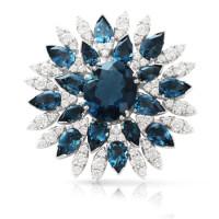 Брошь Pasquale Bruni Ghirlanda, белое золото, топазы, бриллианты