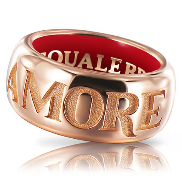 Кольцо Pasquale Bruni Amore, розовое золото, эмаль