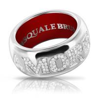 Кольцо Pasquale Bruni Amore, белое золото, бриллианты, эмаль