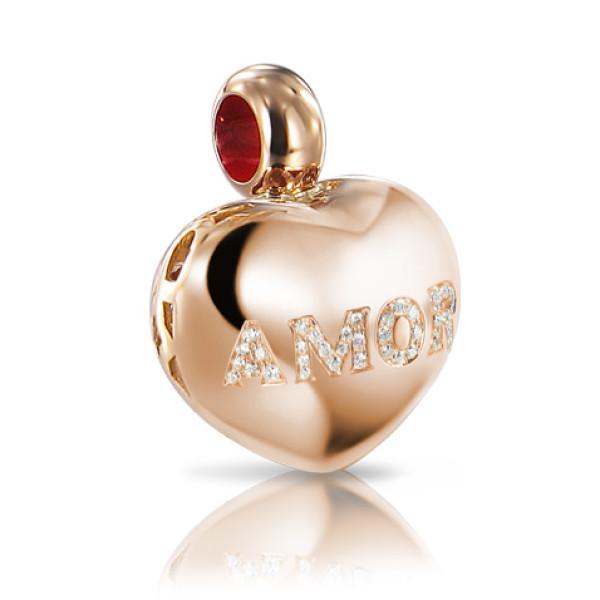 Подвеска Pasquale Bruni Amore, розовое золото, бриллианты