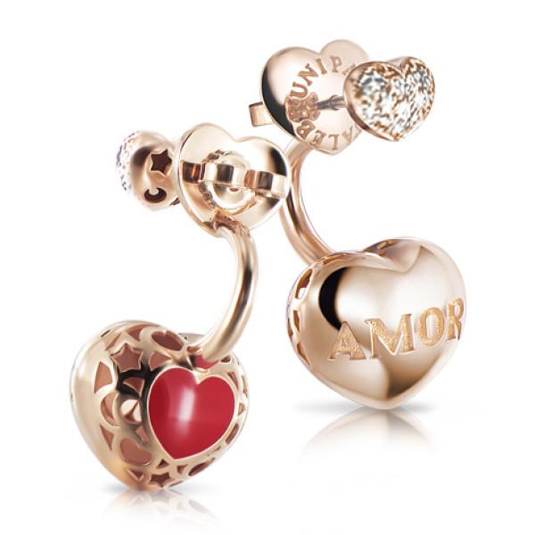 Серьги Pasquale Bruni Amore, розовое золото, бриллианты