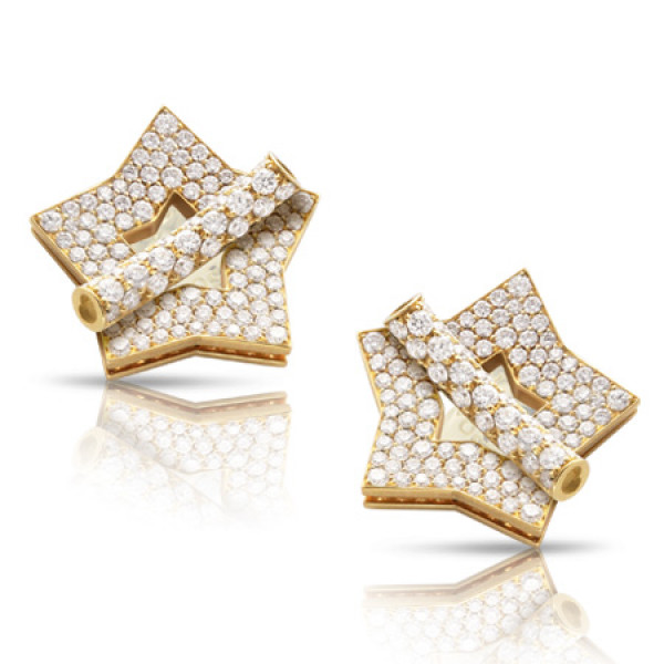 Серьги Pasquale Bruni Make Love, желтое золото, бриллианты