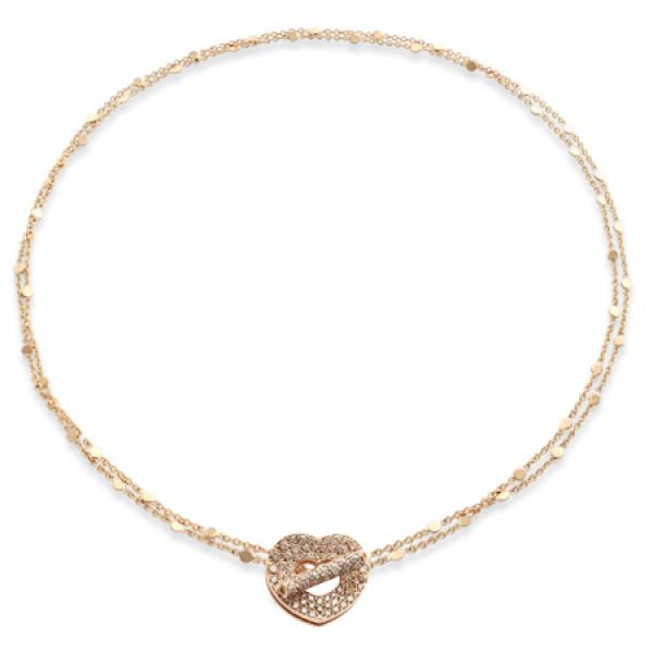 Колье Pasquale Bruni Make Love, розовое золото, бриллианты