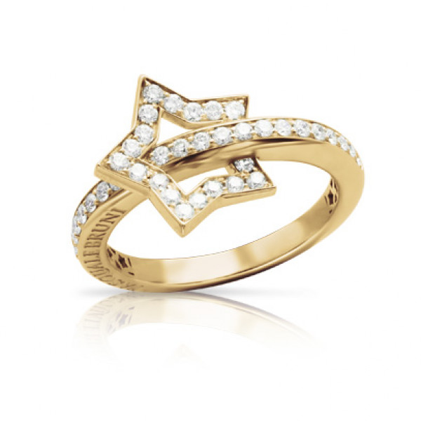 Кольцо Pasquale Bruni Make Love, желтое золото, бриллианты
