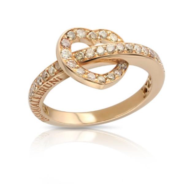 Кольцо Pasquale Bruni Make Love, розовое золото, бриллианты