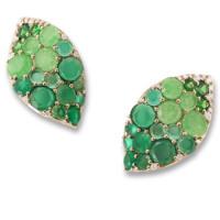 Серьги Pasquale Bruni Secret Gardens Haute Couture, розовое золото, бриллианты, нефрит, агат, цаворит