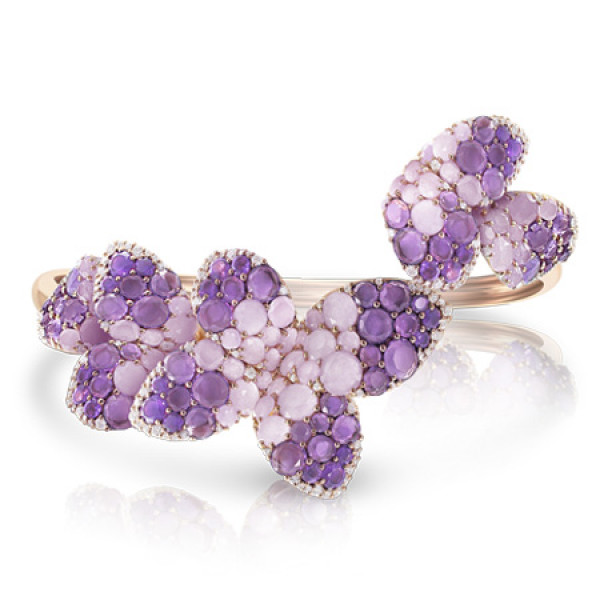 Браслет Pasquale Bruni Secret Gardens Haute Couture, розовое золото, бриллианты, нефрит, аметист