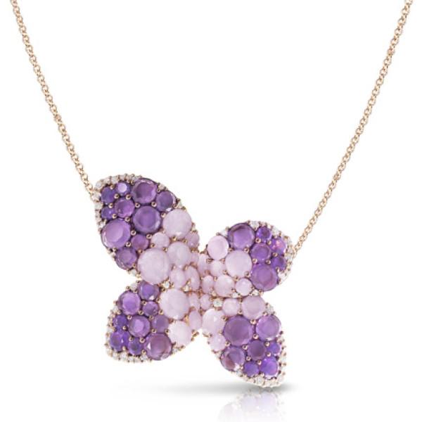 Подвеска Pasquale Bruni Secret Gardens Haute Couture, розовое золото, бриллианты, нефрит, аметист