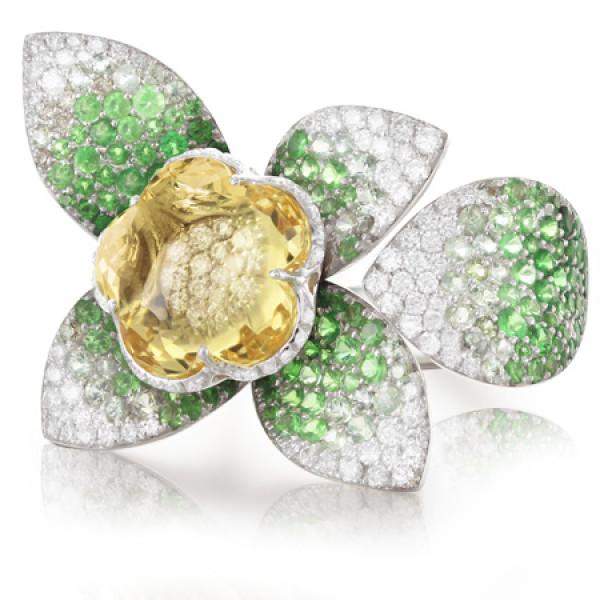 Кольцо Pasquale Bruni Secret Gardens Haute Couture, розовое золото, бриллианты, сапфиры