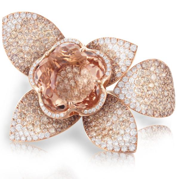 Кольцо Pasquale Bruni Secret Gardens Haute Couture, розовое золото, бриллианты