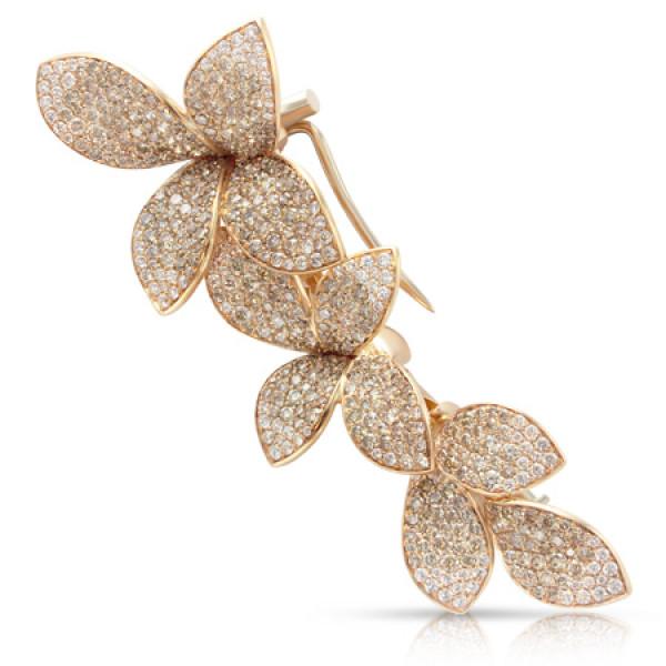 Брошь Pasquale Bruni Secret Gardens Haute Couture, розовое золото, бриллианты