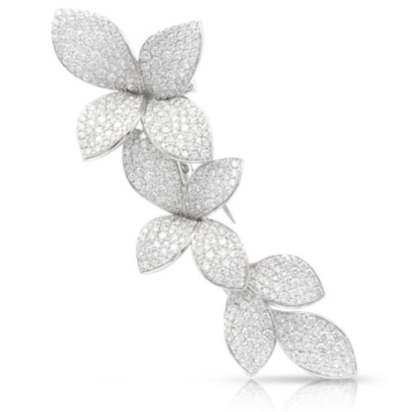 Брошь Pasquale Bruni Secret Gardens Haute Couture, белое золото, бриллианты
