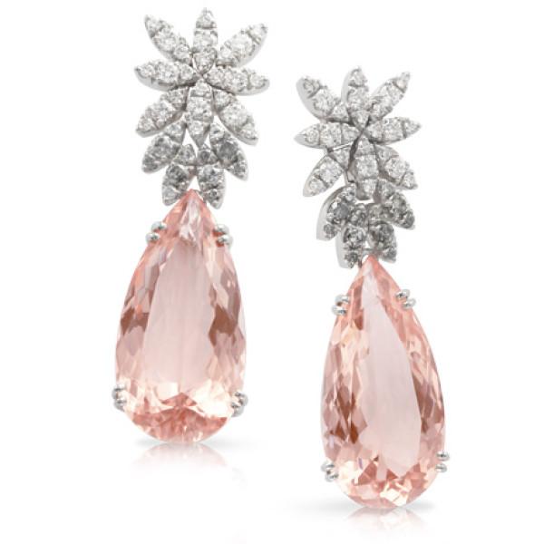 Серьги Pasquale Bruni Ghirlanda Haute Couture, белое золото, бриллианты, морганит