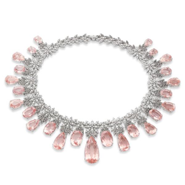 Колье Pasquale Bruni Ghirlanda Haute Couture, белое золото, бриллианты, морганит