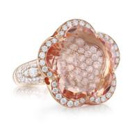 Кольцо Pasquale Bruni Bon Ton Haute Couture, розовое золото, бриллианты, морганит