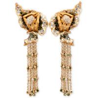Серьги Magerit Gea Veris, желтое золото, бриллианты, агаты