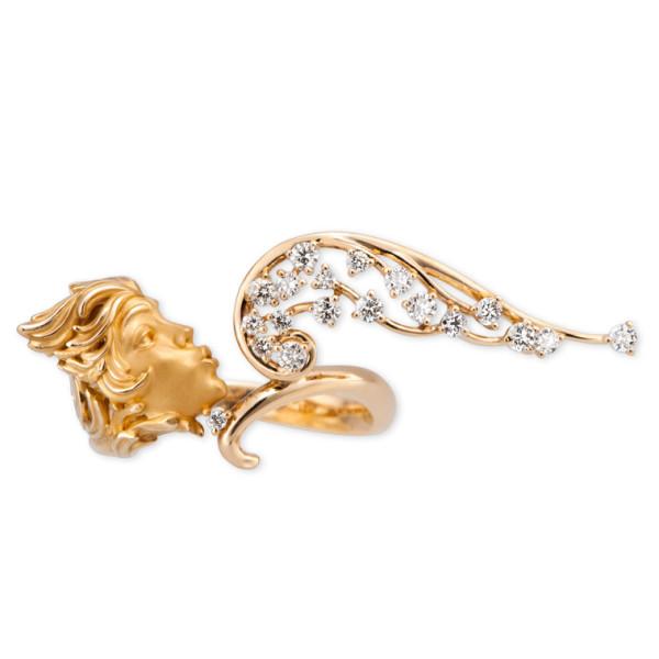 Кольцо Magerit Gea Vitae, желтое золото, бриллианты, агат
