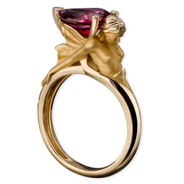 Кольцо Magerit Gea Virentia, желтое золото, бриллианты, агат