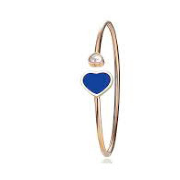 Браслет Chopard Happy Hearts, розовое золото, бриллиант