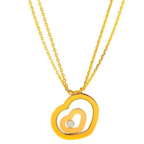 Подвеска Chopard Happy Spirit, желтое золото, бриллиант