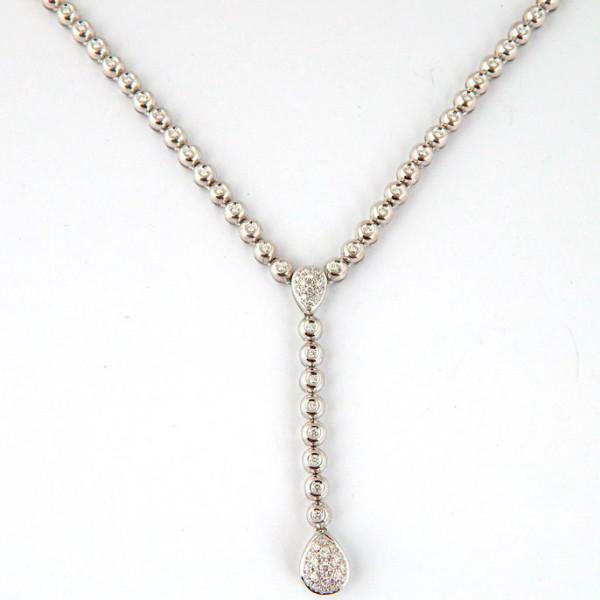 Колье Damiani, белое золото, бриллианты