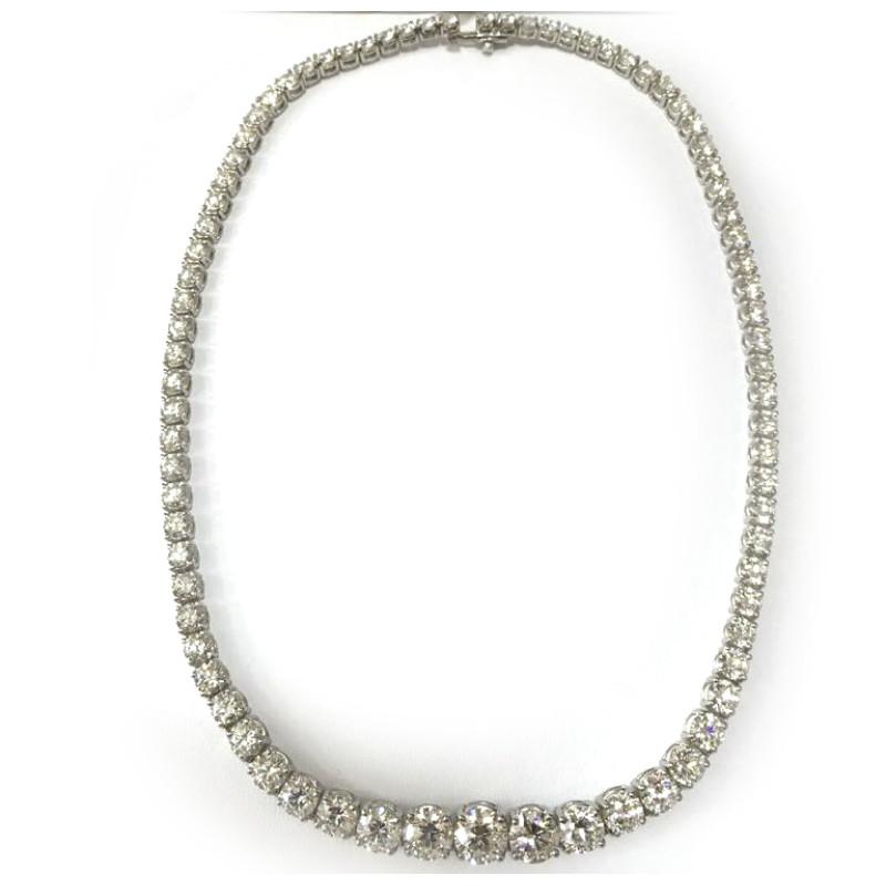 Колье Tiffany & Co. белое золото, бриллианты 34,49ct