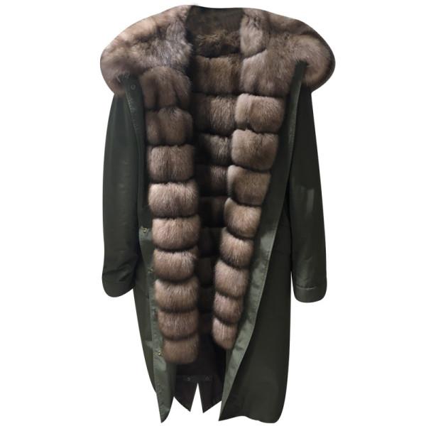 Пальто, мех соболя, ткань