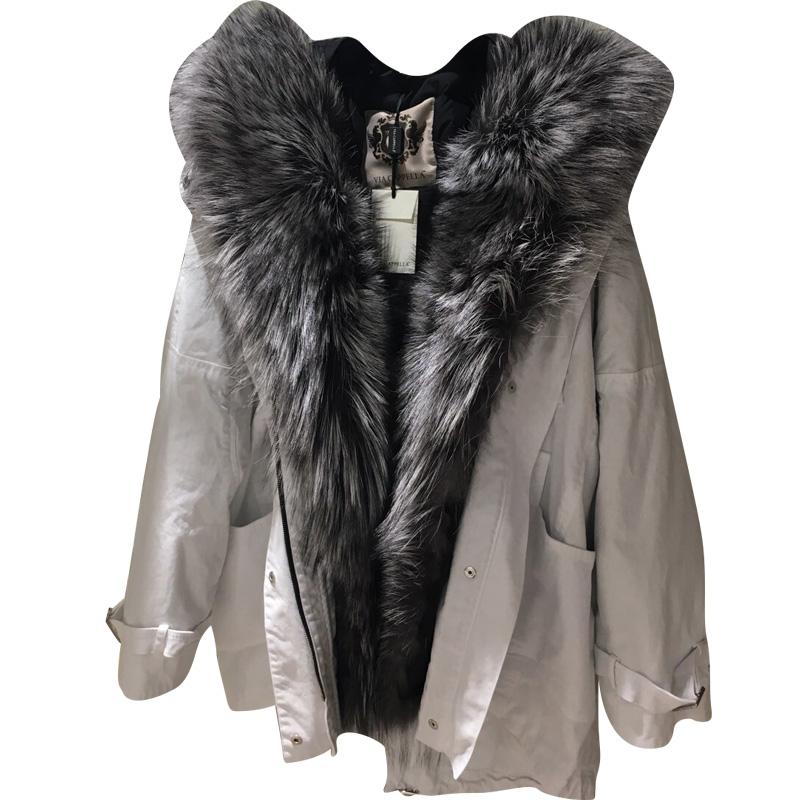 Куртка Via Cappella, мех лисы, ткань