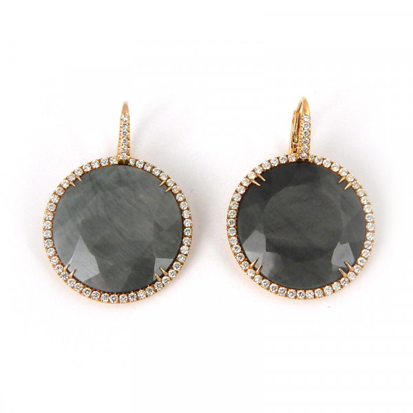 Серьги Crivelli, золото 750, кварц, бриллианты