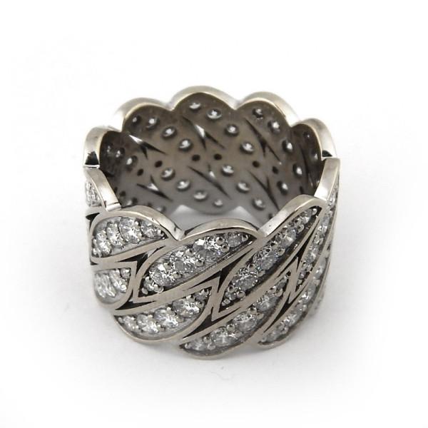 Кольцо Damiani, белое золото 750, бриллианты