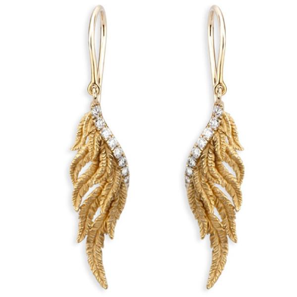 Серьги Magerit Hechizo Armonia Small, желтое золото, бриллианты